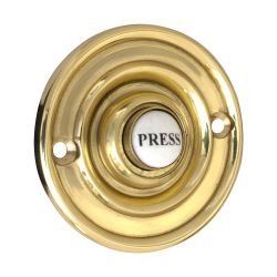 Astor Brass Door Bell 76mm Dia. Db023b