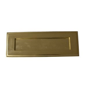 Victorian Brass Stepped Letterbox LB012