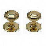 Knightsbridge Brass Centre Door Knobs CFDS08