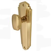 Art Deco Brass Mortice Knobs