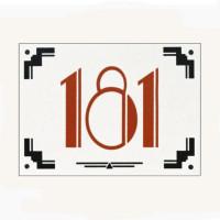 Art Deco Style Enamel Door Number