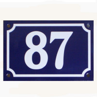 Beautiful French style door number plate