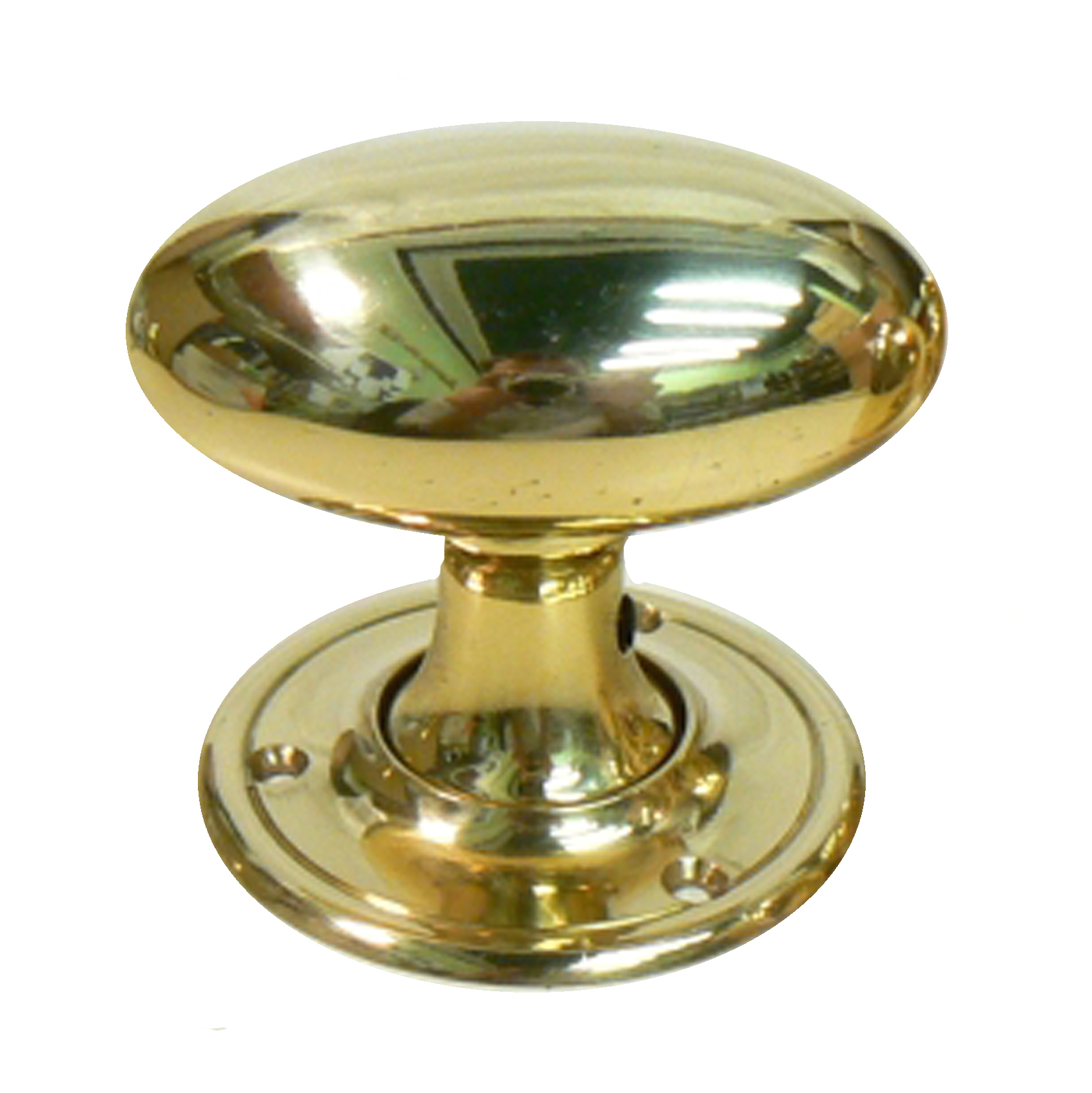 Berkley Oval Brass Door Knobs