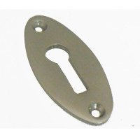 Brighton Oval Brushed Nickel Keyhole