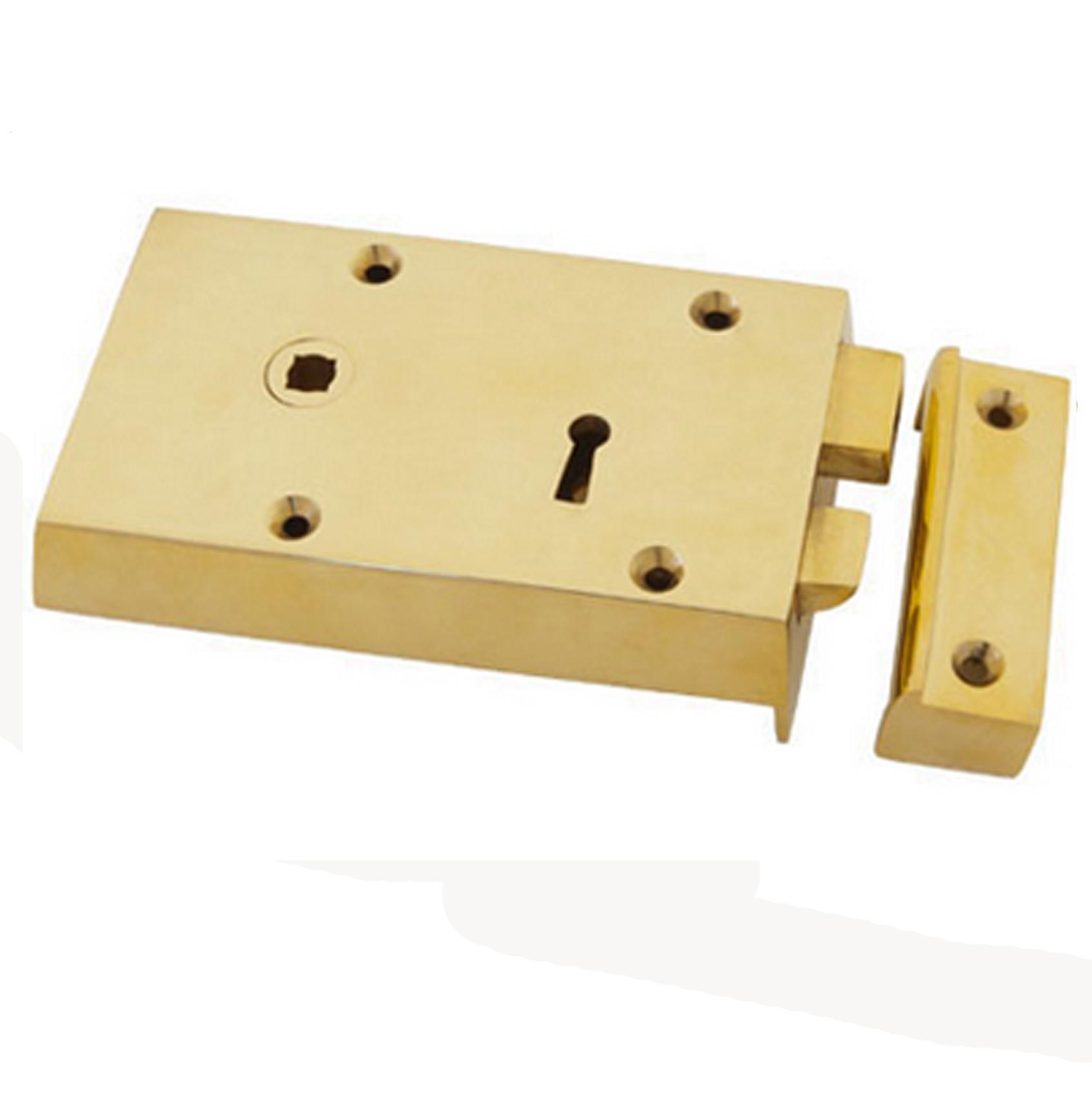 Carlisle solid brass rimlock