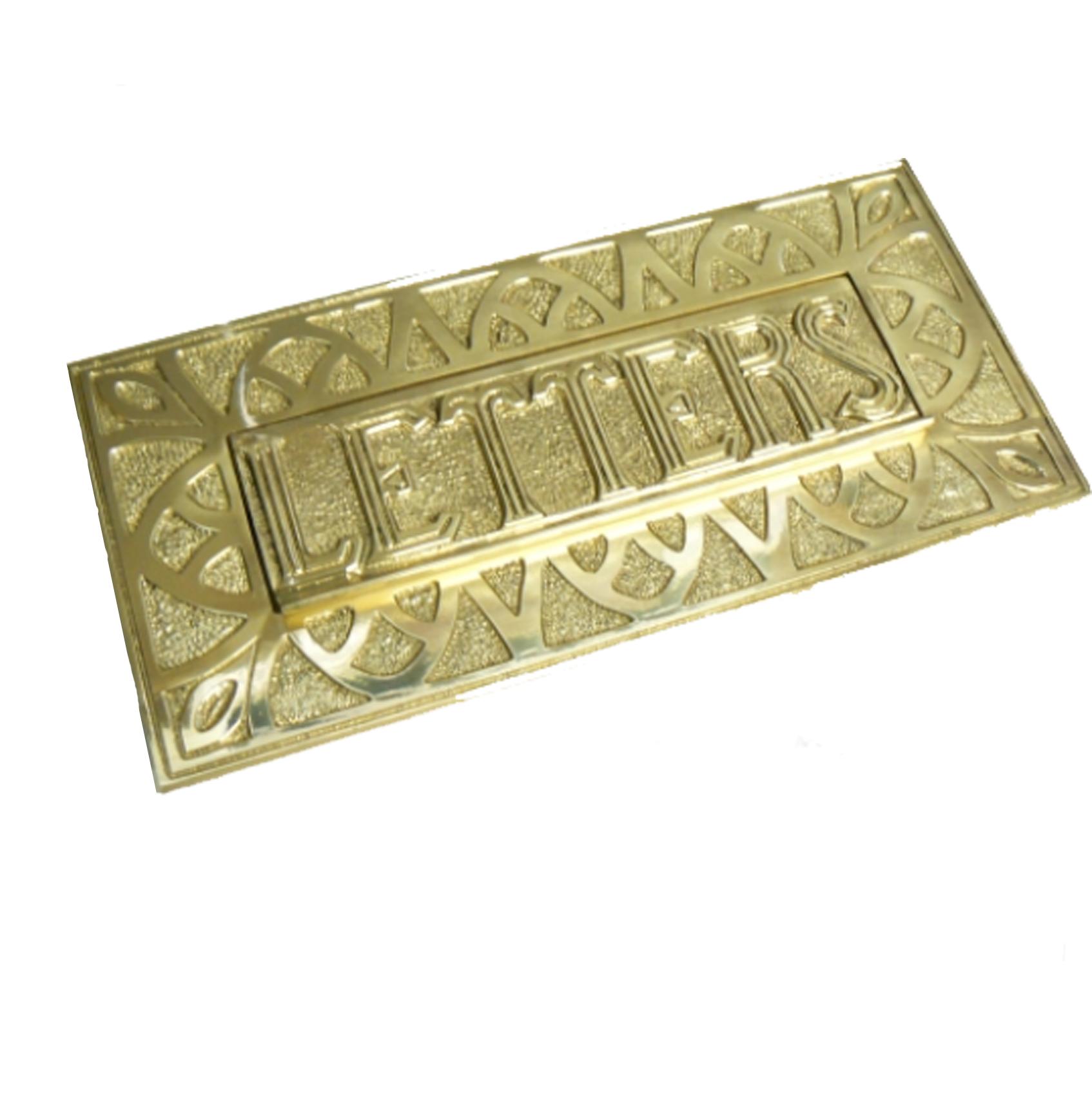 Decorative Victorian Brass Letterbox
