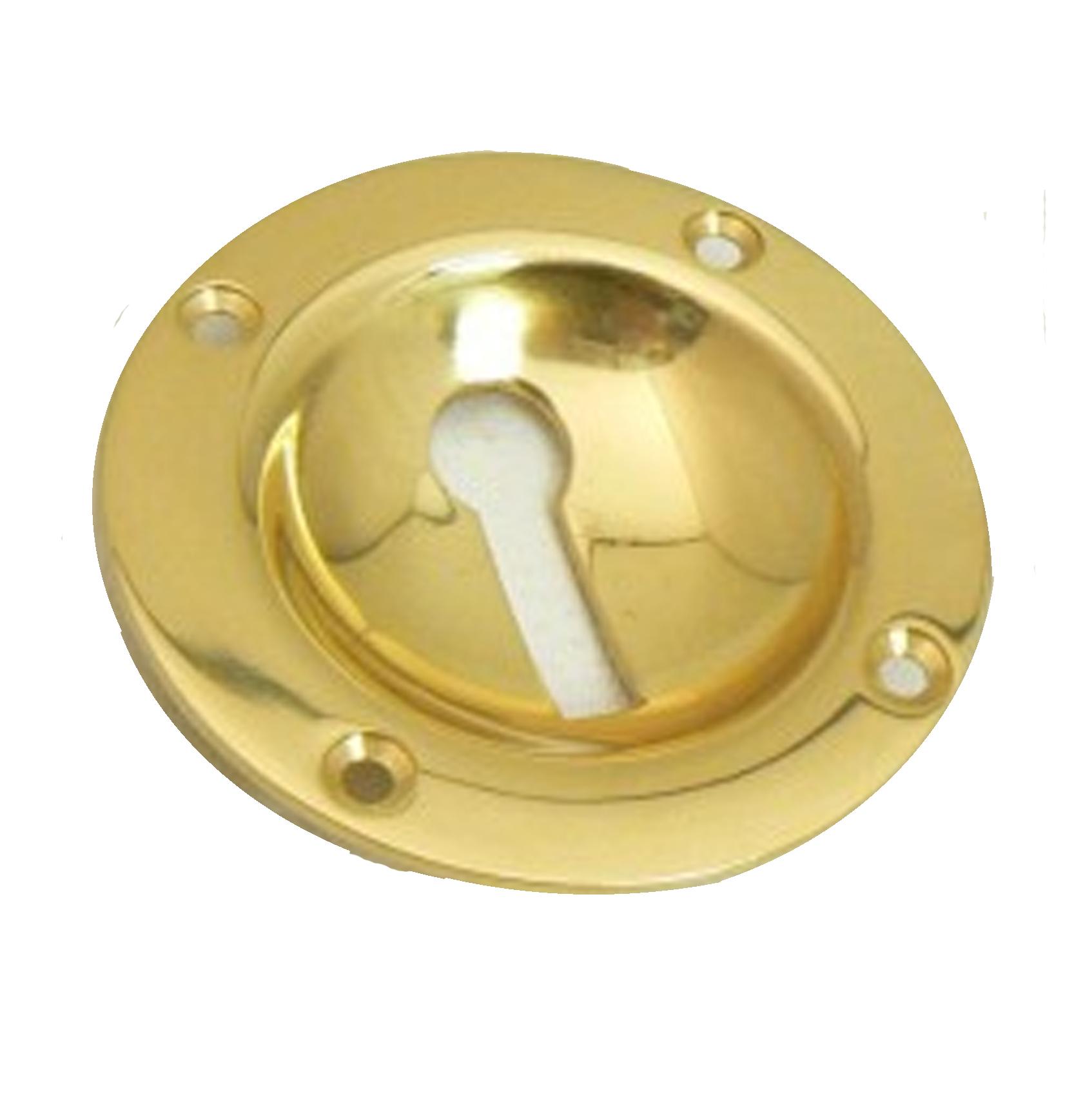 Dished Brass Escutcheon