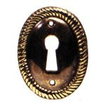 Oval Brass Rope Edge Keyhole SES025
