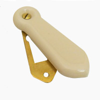 Porcelain Cream & Brass Keyhole