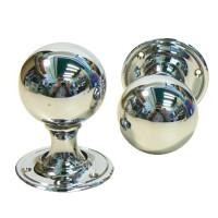 Rialto Round Chrome Doorknobs