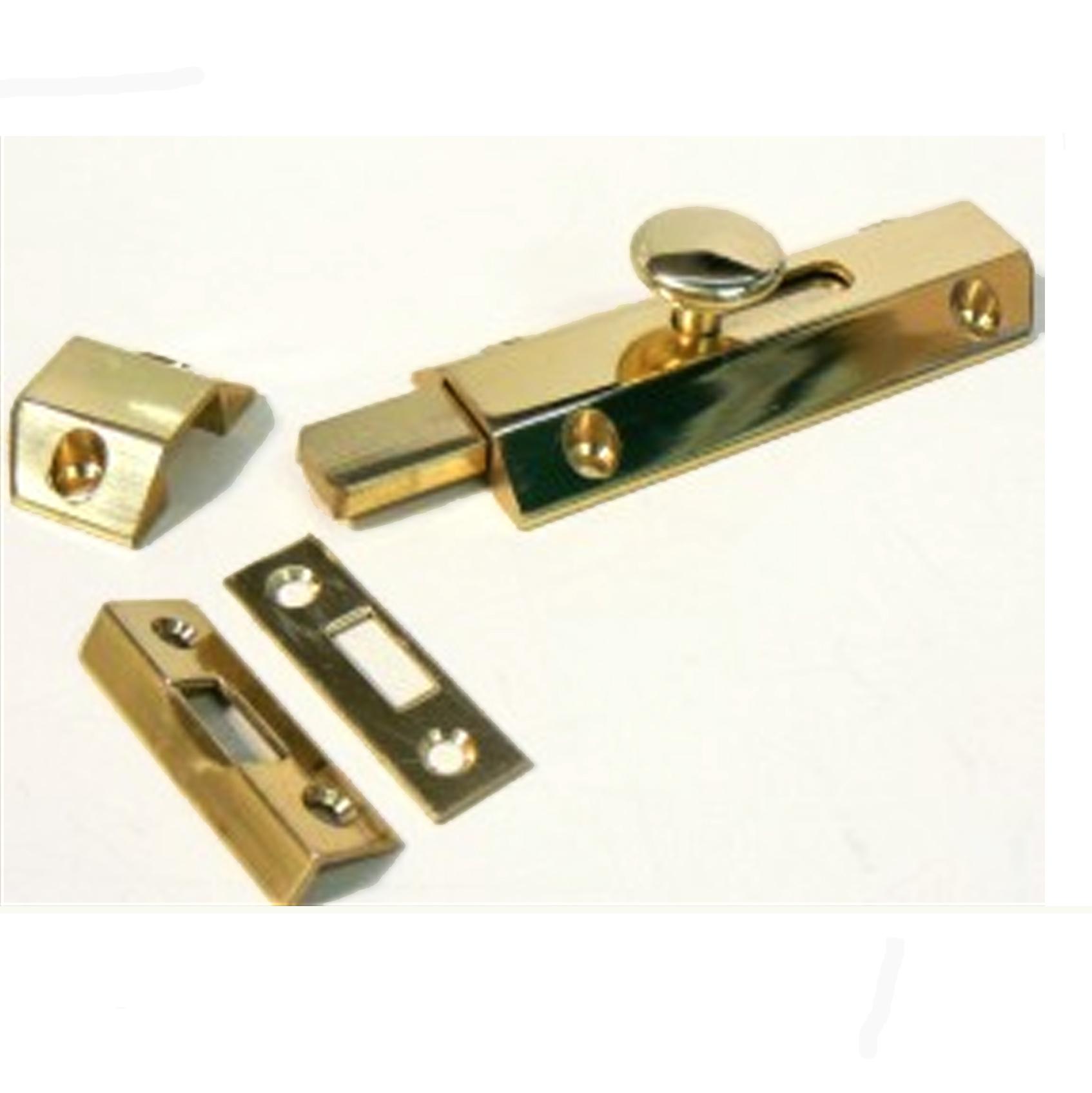 Shaftsbury Brass Bolt - 3 Keeps