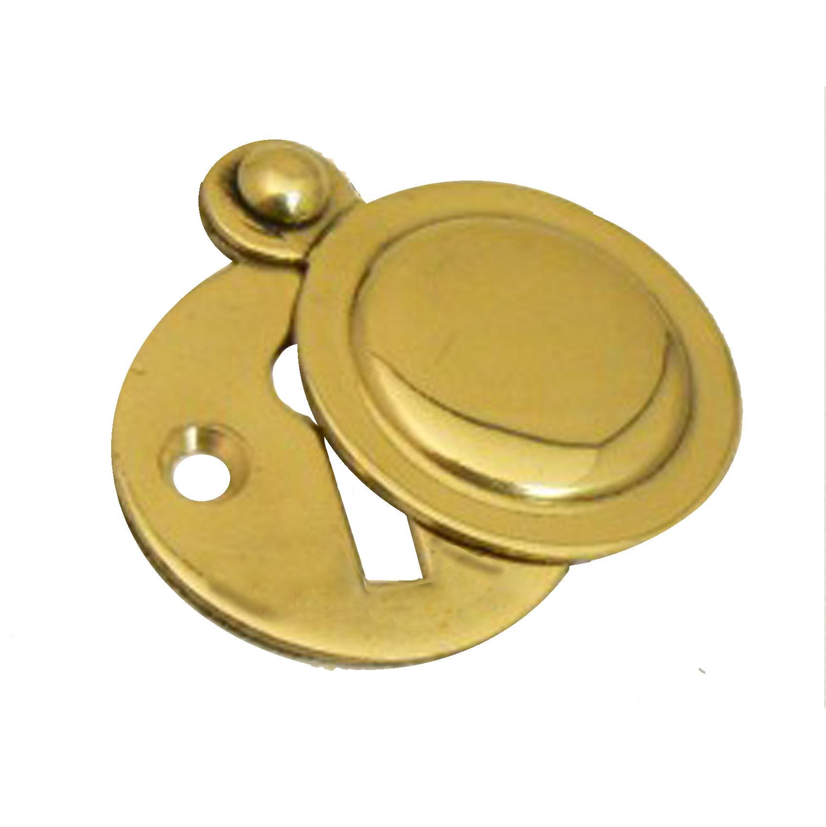 Victorian Stainless Brass Escutcheon
