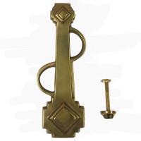 original Art Deco Brass Door Knocker