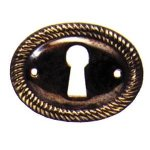 Oval Brass Rope Edge Escutceon Ses024