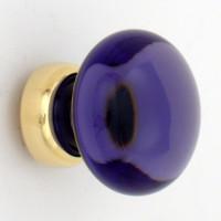 Amethyst Smooth Glass Knob