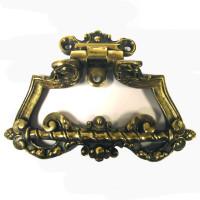 Antique French brass horizontal door pull