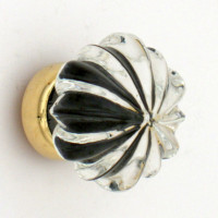Clear Glass Flower Cupboard Knob