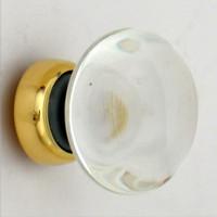 Clear Smooth Glass Cupboard Knob