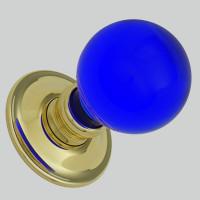 Cobalt Blue Balloon Glass Knobs