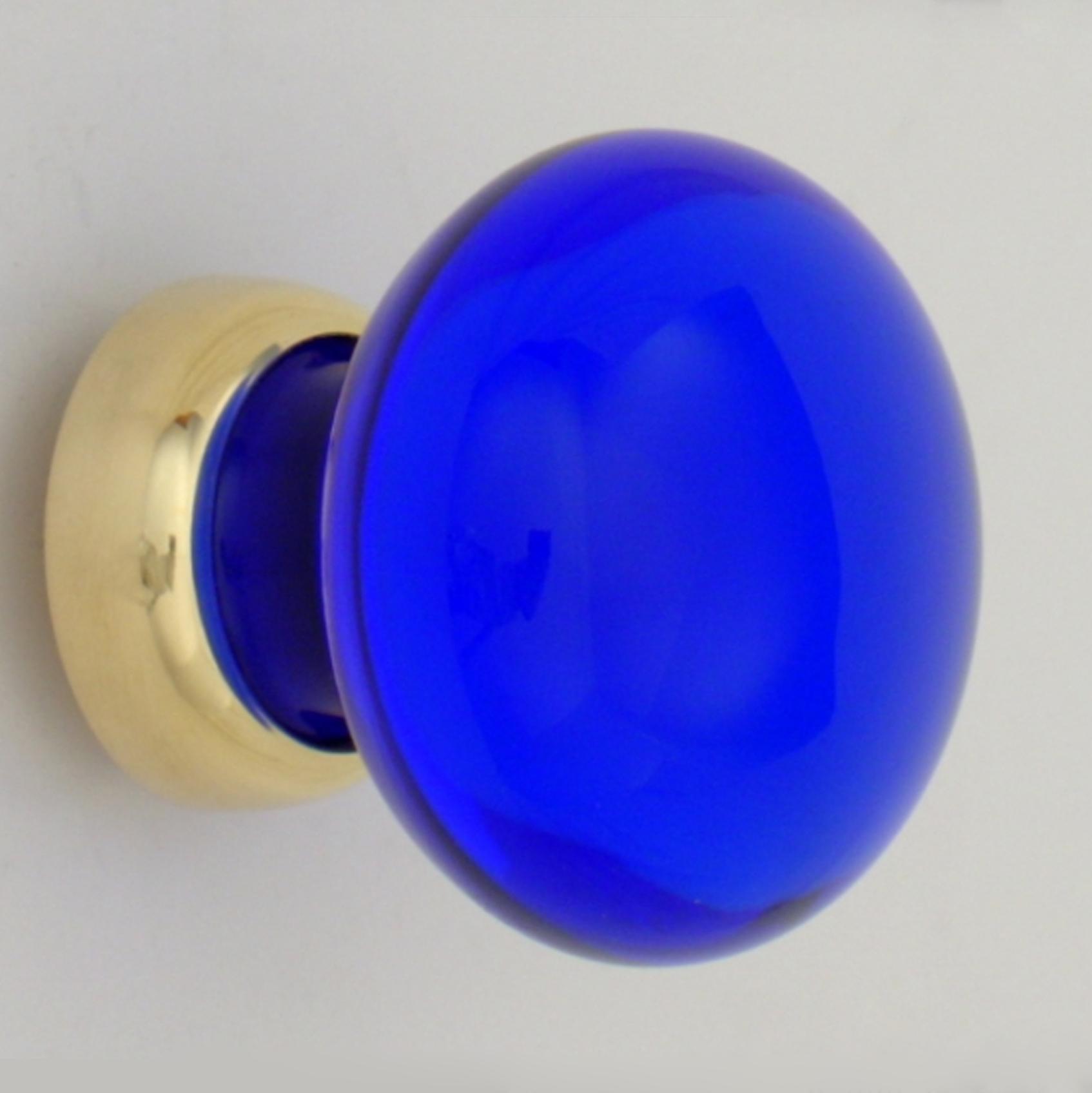 Cobalt Smooth Glass Cupboard Knob