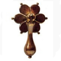 Floral Drop Brass Handle