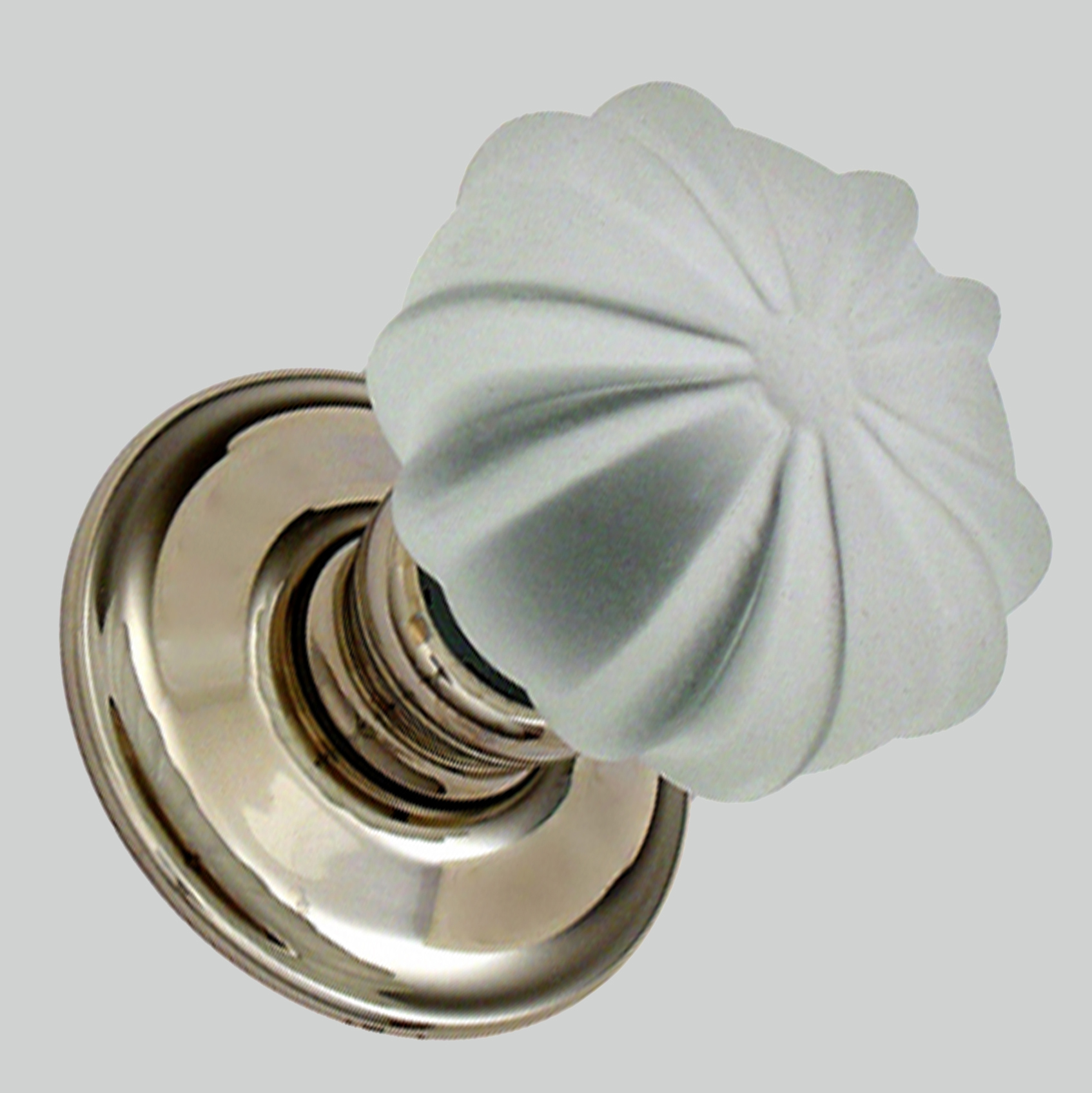 Frosted Ribbed Glass Mortice Knobs