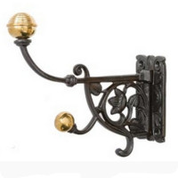 Hat & Coat Hook With Brass Tips