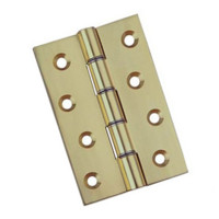 Pair Polished Brass Hinges