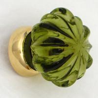 Peridot Glass Cupboard Knob