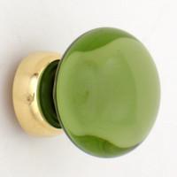 Peridot Smooth Glass Cupboard Knob