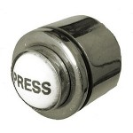 Polished Nickel Bell Contact Button DB072