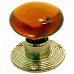 Amber Glass Mortice Knobs SR030