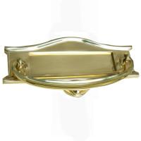 Art Nouveau Brass Letterbox Large