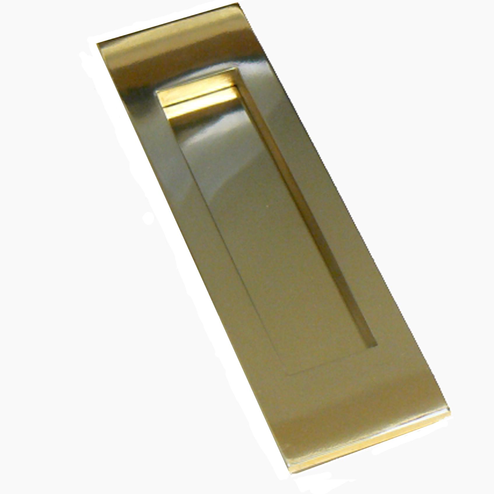 Blagdon Vertical Brass Letterbox