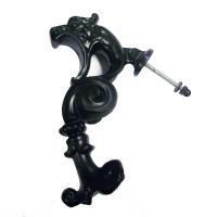 Upcycled cast iron Sea Horse door Knocker