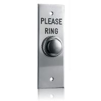 'Please Ring' Satin Chrome Doorbell