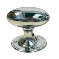 Berkley Oval Chrome Door Knobs