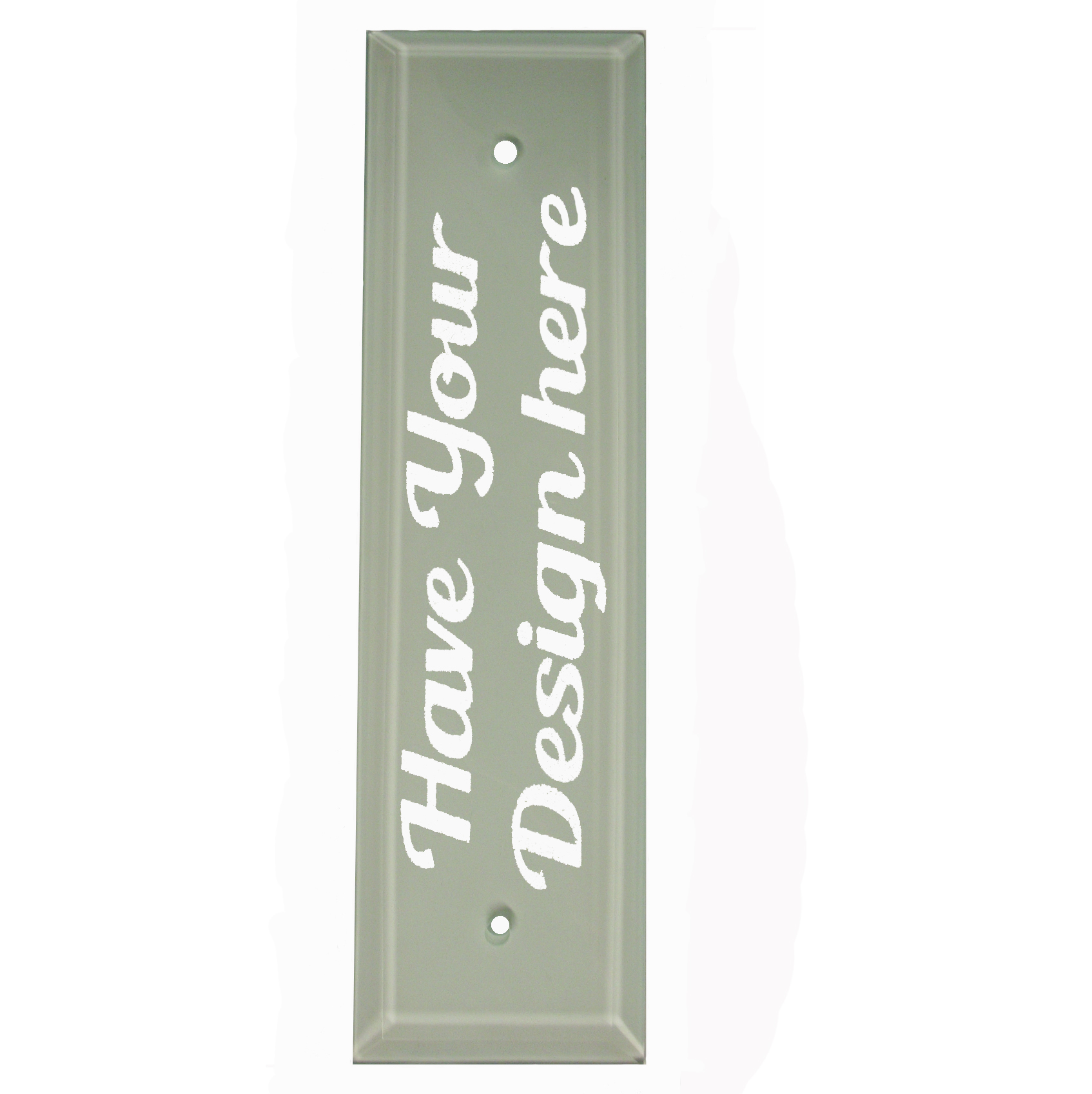 Flosted Glass Own Design Door Push Plate