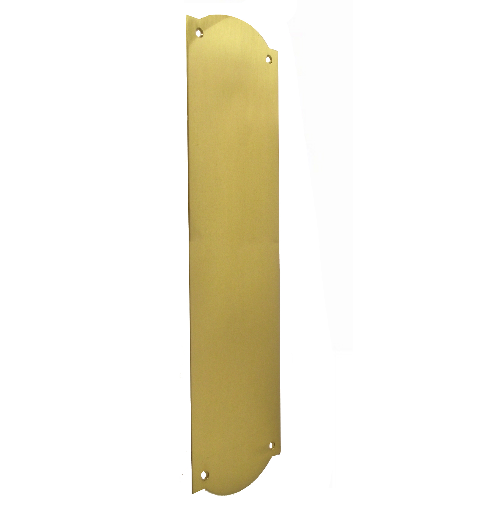 Victorian Shaped Finger Plate Polished Brass