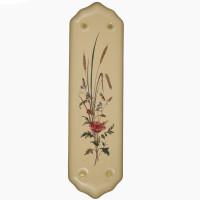 Finger Plate Poppy & Wheatsheaf