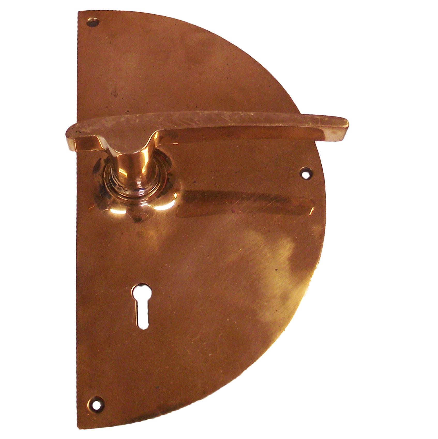 Odd Bronze Handle Semi Circular Plate