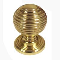 Brass Queen Beehive Knob